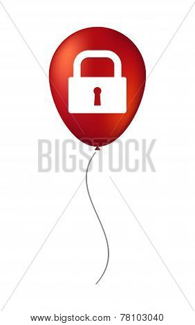 Balloon Illustration With A Lock Pad