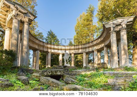 The Apollo Colonnade  At Golden Autumn Time In The Pavlovsk Park, Russia