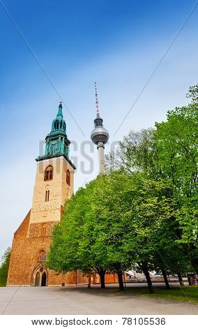 St. Mary's Church, Berliner Fernsehturm In Berlin