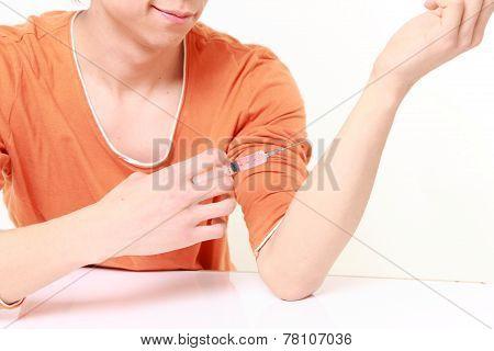 Drug Addict Injecting