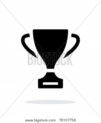Trophy icon on white background.