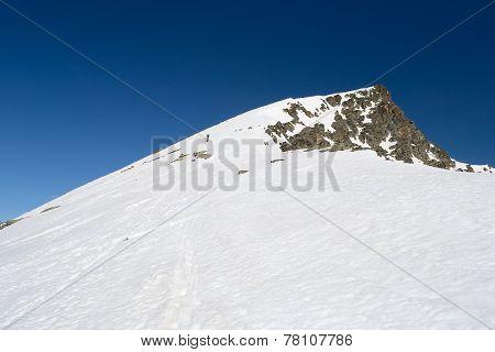 Alpinist Towards The Summit