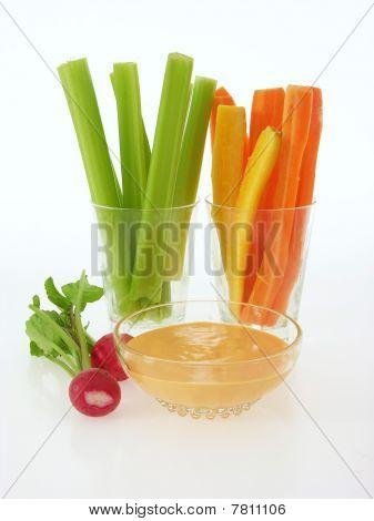 dip vegetables