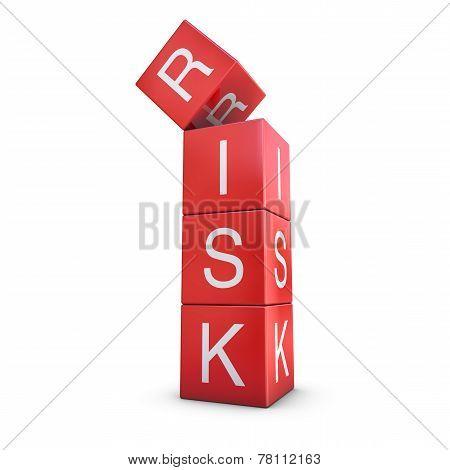 Risky Red Balance Concept