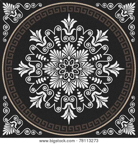 Vector Seamless Vintage White Greek Ornament (meander)