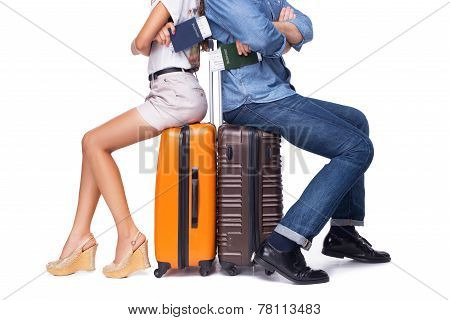 Young couple is ready to travel