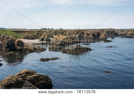 The rocks in the coast of Fort Bragg, California