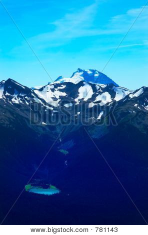 Lake and snow peaks