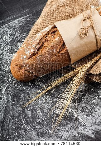 Long Loaf With Ears Of Wheat