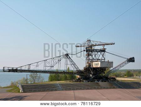 gigantic excavator in Ferropolis