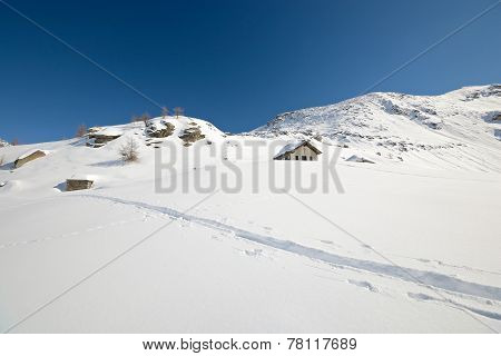 Alpine Chapel In Winter