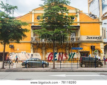 Grecian-spanish Style Buildings On Little India Street In Kuala Lumpur