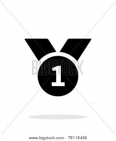 First place medal simple icon on white background.
