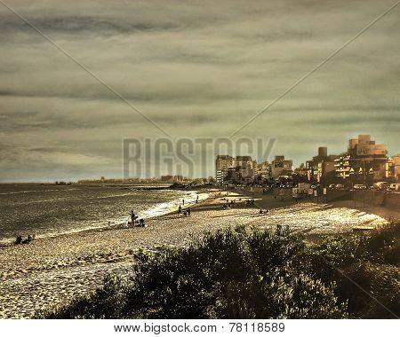Montevideo Beach Color Edited Photo