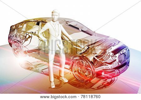 Businessman And Car
