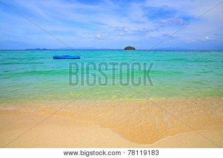 Inflatable Boat Floating On Andaman Sea