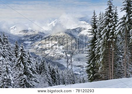 Alpine Resort Winter Landscape