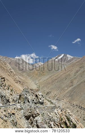 Winding Road In Mountains View