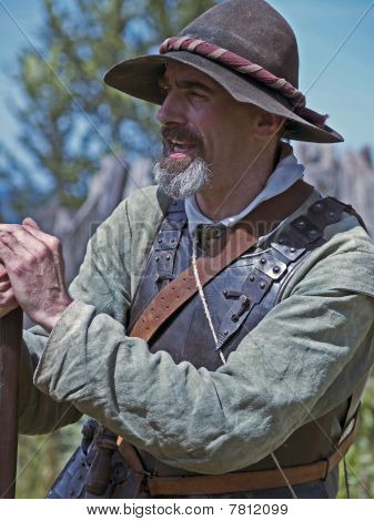 Colonist at Plimoth Plantation
