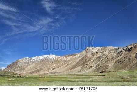 Big Mountains Around Valley