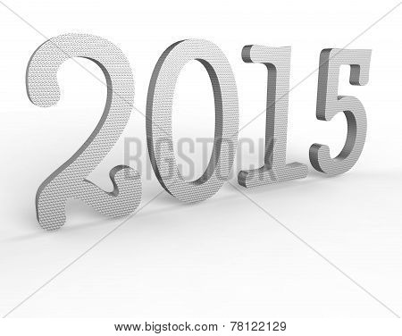 New Year text 3d 2015
