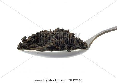 Teaspoom With Tea Leaf