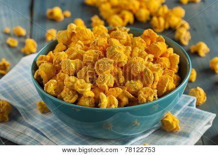 Homemade Cheddar Cheese Popcorn