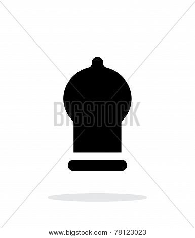 Condom icon on white background.