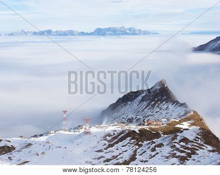 Beautiful Mountain Ski Resort
