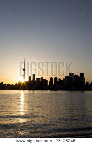 Toronto Sunset From The Shore Of The Islands