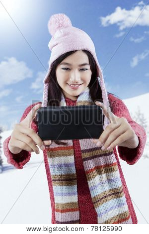 Girl Taking Self Picture