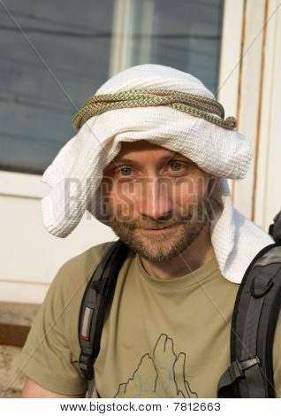 Man in Self-made Kaffiyeh