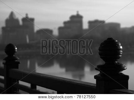 Cast Iron Fence On The Quay