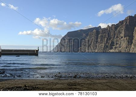 Guios Beach In Los Gigantes, Tenerife, Canary Islands, Spain.