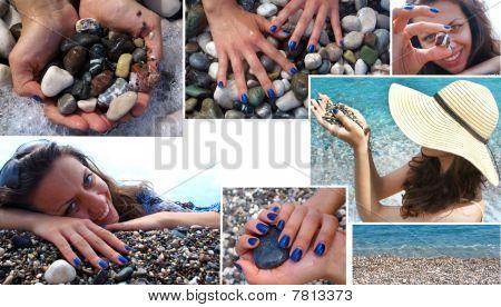 Sea spa collage