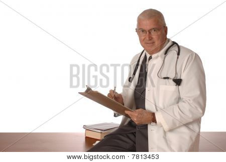 Physician On White