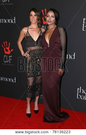 LOS ANGELES - DEC 11:  Nikki Reed, Kat Graham at the Rihanna's First Annual Diamond Ball at the The Vineyard on December 11, 2014 in Beverly Hills, CA
