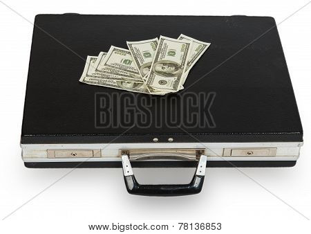 Black Case With Dollars