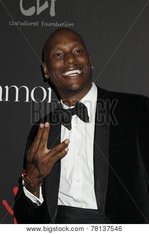 LOS ANGELES - DEC 11:  Tyrese Gibson at the Rihanna's First Annual Diamond Ball at the The Vineyard on December 11, 2014 in Beverly Hills, CA