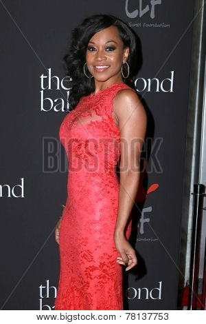 LOS ANGELES - DEC 11:  Monyetta Shaw at the Rihanna's First Annual Diamond Ball at the The Vineyard on December 11, 2014 in Beverly Hills, CA