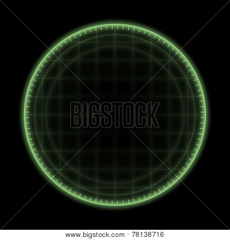 An image of a green radar ring background