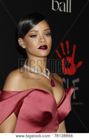 LOS ANGELES - DEC 11:  Rihanna at the Rihanna's First Annual Diamond Ball at the The Vineyard on December 11, 2014 in Beverly Hills, CA