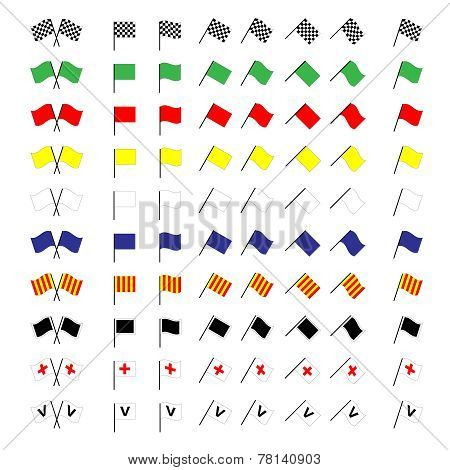 Motorcycle Racing Flags