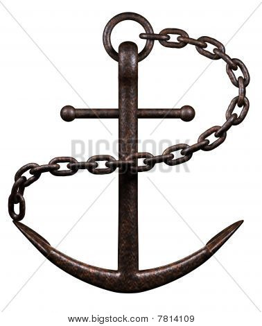 Sea Anchor On White