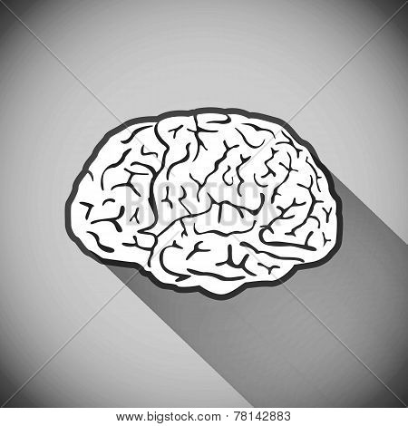 brain, vector, human, symbol, medicine, think, icon,