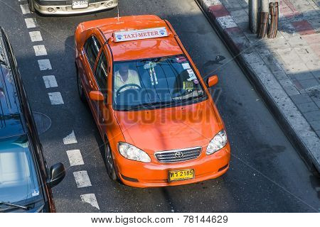Taxi Driver Without Passenger In Bangkok