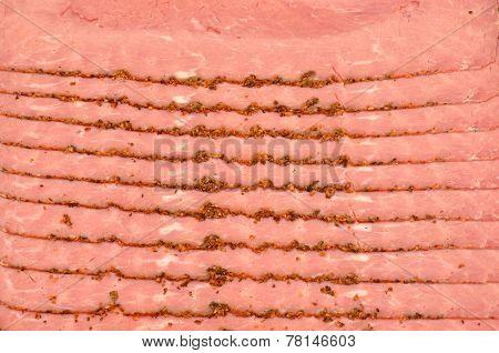 Pastrami Meat Slices
