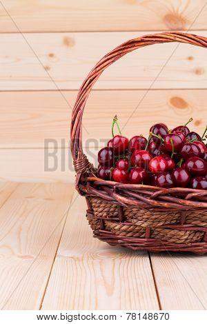 Cherries in basketry