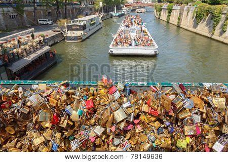 Paris. Walking Along The Seine.