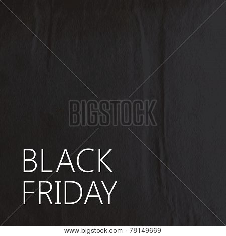 vector abstract  background with black wrinkled paper texture for your design. black friday promotio
